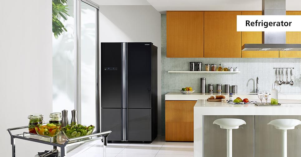 Холодильник Хитачи в интерьере