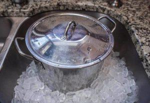 Охлаждение льда с помощью льда